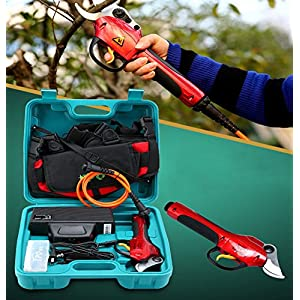 JIAN YA NA 220V Power Electric Chargeable Fruit Tree Scissors Pruners Branch Cutter Pruning Shears & Snips Maximum 3CM