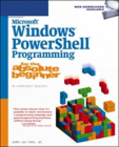 Microsoft Windows PowerShell Programming for the Absolute Beginner by Cengage Learning PTR