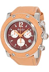 Glam Rock Women's GR11107-NV Miami Chronograph Diamond Accented Brown Mother-Of-Pearl Dial Watch