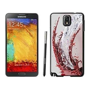 NEW Custom Designed For LG G2 Case Cover Phone With White Red Liquid Splash_Black Phone