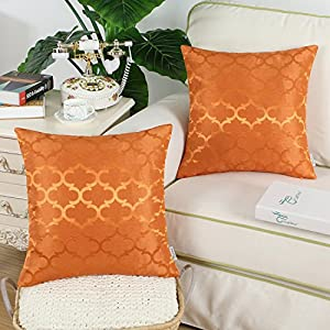 Calitime Pack Of 2 Cushion Covers Throw Pillow Cases Shells Very