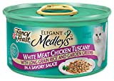 Fancy Feast Elegant Medleys for Cats, Tuscany, 3 Ounce Cans 12 count  (Pack of 2), My Pet Supplies