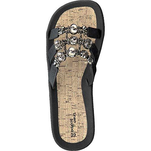 Femmes Bain Mule Chaussures Santos Scarpa Linea Noir De gFzqFY4