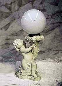 Lámpara, piedra, Park lámpara Putto bola 4011, gris claro