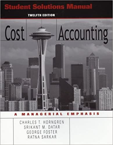 Amazon student solutions manual to accompany cost accounting amazon student solutions manual to accompany cost accounting 12th edition 9780131496019 charles t horngren books fandeluxe Image collections