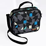 Lunch Bag Insulated Food Travel Tote Bags with Mesh Pocket Diamond Oxford Bento Box Cool Bag School Food Bag Ideal for Kids,Men and Women