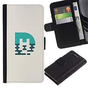 All Phone Most Case / Oferta Especial Cáscara Funda de cuero Monedero Cubierta de proteccion Caso / Wallet Case for Sony Xperia Z1 Compact D5503 // marca azul M