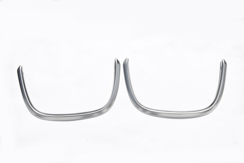 Coche estilo ABS cromado mate decoraci/ón interior trasera marco de red cubierta calcoman/ía accesorio para X1 F48 2016 2017