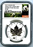 2017 Canada Coin Canadian Silver Maple Leaf Reverse Proof PANDA Privy FIRST RELEASES $5 PF70 NGC