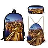 Best River's Edge Products String Lights - iPrint Schoolbag,Pencil Box,Drawstring Bag,Backpacks,3D Print,Night River Portuguese Coast Review