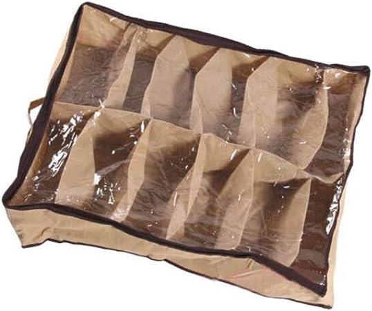 12 Paires Tidy sous Le lit Tissu Non tiss/é Chaussures de Stockage Organisateur Porte-bo/îte Closet Sac Case Color/é Articles m/énagers durables de Haute qualit/é