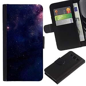 Paccase / Billetera de Cuero Caso del tirón Titular de la tarjeta Carcasa Funda para - purple space stars mysterious night - Samsung Galaxy S3 III I9300