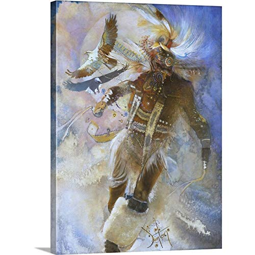 - Gallery-Wrapped Canvas Entitled The Eagle Dancer by Denton Lund 36