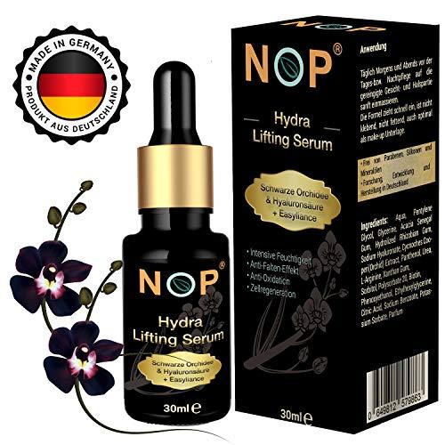 Hyaluron Serum | Gesichtspflege Damen | Serum mit schwarzer Orchidee & Easyliance | Feuchtigkeitsserum | Anti-Falten Serum 30 ml