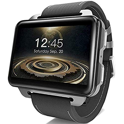 Solovley Bluetooth Smart Watch 2.2 inch for LEMFO LEM4 PRO Android Smart Watch Phone 1GB 16GB 1200MH GPS Battery Holder WiFi Nano SIM Card 130W MP4 Camera 3G Smartwatch (Black)
