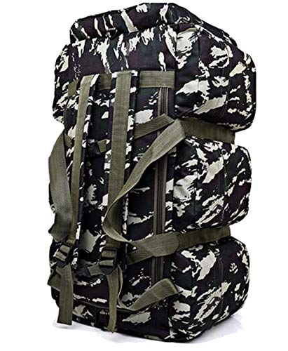 OASIS LAND 90L Large Capacity Tactics Backpack Trek Travel Rucksack Camp Hike Waterproof Camouflage Luggage Bag Men Travel Bag,Two Camouflage