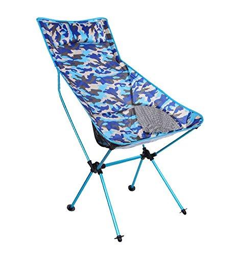 Cotangle Silla Plegable de Camping Plegamiento de Aluminio al Aire Libre del Camuflaje/Silla de Playa/Silla de salón Multiusos del Camping de la montaña/Silla Plegable Larga