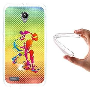 WoowCase - Funda Gel Flexible { Vodafone Smart Prime 6 } Jugador de Baloncesto Multicolor Carcasa Case Silicona TPU Suave