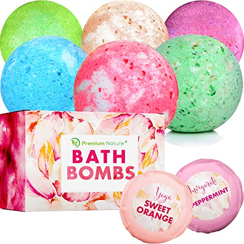 Bath Bombs Gift Set – Bath Bombs Unique Relaxation Gifts Sets Idea Bubble Fizzy Bath Bomb for Her Women Men Kids Couple…