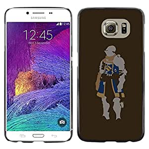 Paccase / SLIM PC / Aliminium Casa Carcasa Funda Case Cover para - Minimalist Knight - Samsung Galaxy S6 SM-G920