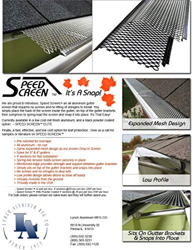 5'' Small Hole Speed Screen Gutter Guard/Gutter Protection/Leaf Protection (200ft/box) by Lynch Aluminum (Image #6)