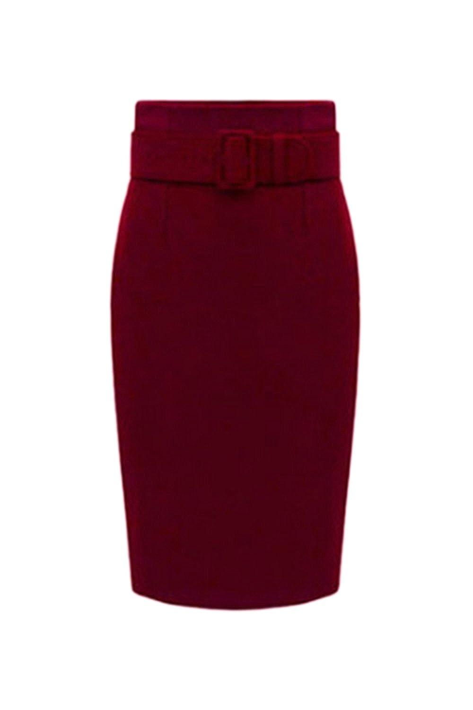 Women Elegant Winter Solid Short Office Mini Bodycon Pencil Skirt CANZ883