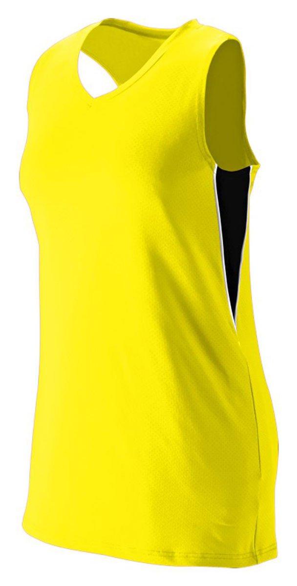 Augusta Sportswear Girls ' Inferno Jersey B00HJTKB6I Medium|Power Yellow/Black/White Power Yellow/Black/White Medium