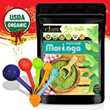 Best USDA Organic Pure Moringa Dried Leaf Extracted Powder Bulk 1lb from India | Rich in Minerals, Protein, Vitamins, Nutrition | for Kids, Adults & Seniors + Bonus A Set of Measuring Spoons Review