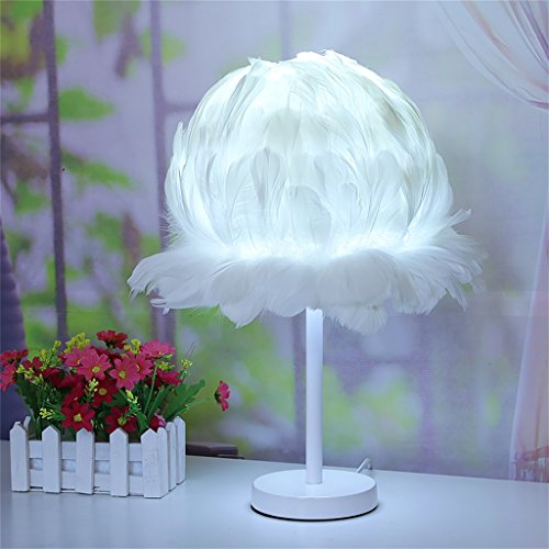WENBO HOME- Creative simple bird nest lamp table head lamp feather light -Desktop lamp ( Color : White ) (Table Bird Nest Lamp)
