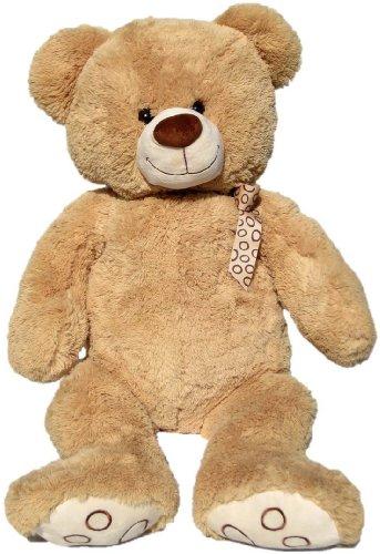 Wagner 9015 - XXL Plüschbär Teddy Bär - 100 cm groß - hell-braun - Teddybär Kuschelbär