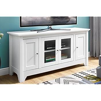 Amazon Com We Furniture 52 Wood Tv Media Stand Storage Console