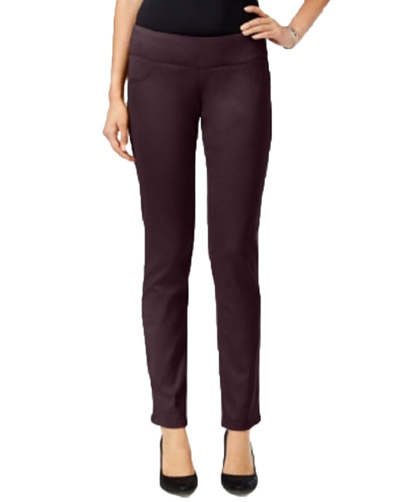 Style & Co. Womens Petites Mid Rise Skinny Jeggings Purple PP