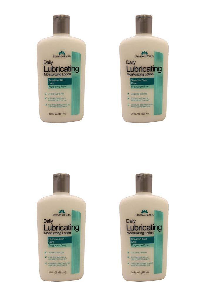 4x Lubricating Moisturizing Body Lotion Sesnitive Skin Frangrance Free 20oz
