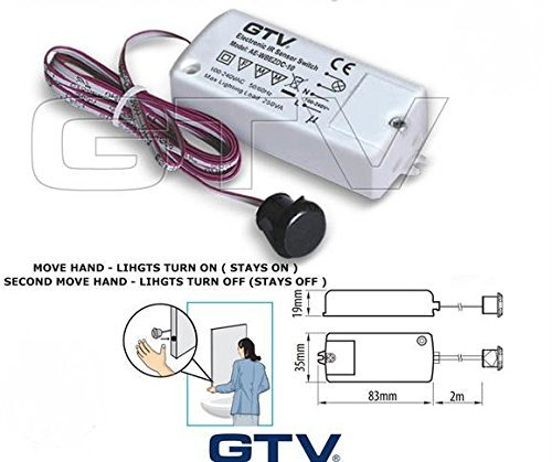 Lighting Infra Red Sensor for On//Off Switching of Kitchen Cabinet Lighting,Move hand lights turn on