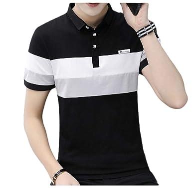 Energy Mens Basic Style Short Sleve Blouse Tops Polo-Collar Shirt ...