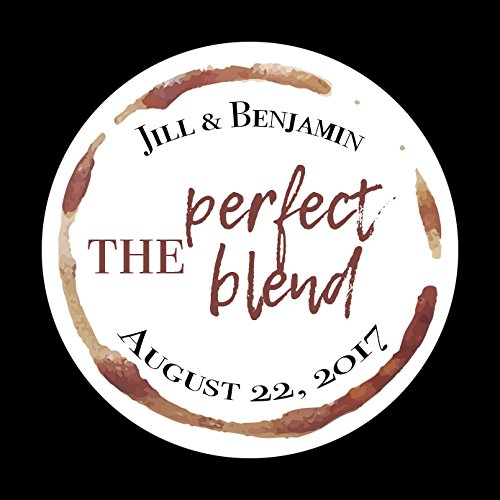 CUSTOM The Perfect Blend Labels, Wedding Favor Stickers, Coffee Favor, Wedding Stickers, Coffee Favor Labels