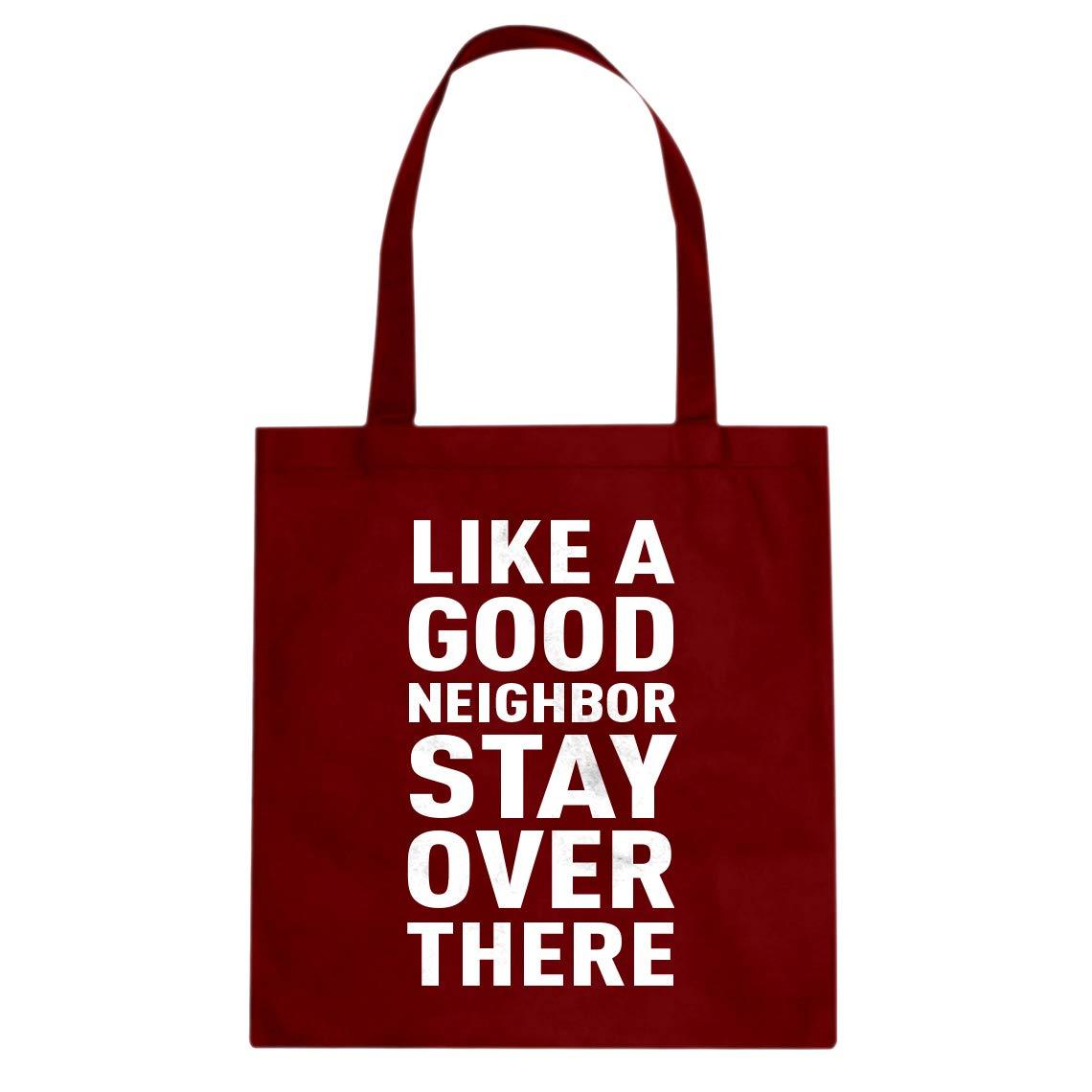 Indica Plateau Like a Good Neighbor Cotton Canvas Tote Bag