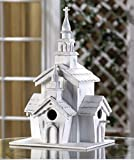 USA Premium Store Shabby White Washed Victorian Style Church Chapel Birdhouse French Country Decor
