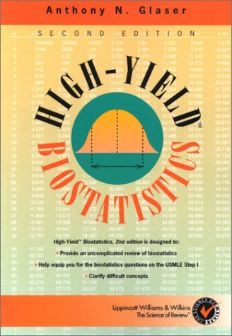 High-Yield(TM) Biostatistics (High-Yield Series) by MD, PhD. Anthony N. Glaser (2001-02-15)