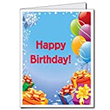 VictoryStore Jumbo Greeting Cards: Giant Birthday Card (Presents and balloons), 2' x 3' card with envelope