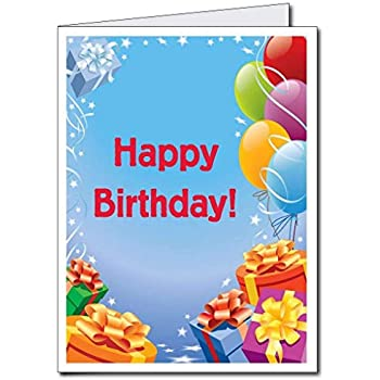 VictoryStore Jumbo Greeting Cards Giant Birthday Card Presents And Balloons 2 X 3 With Envelope