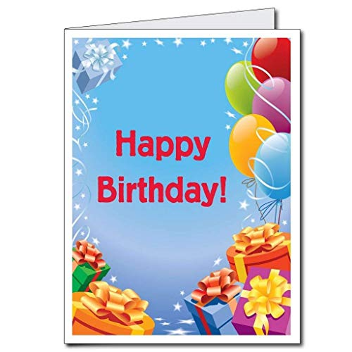 VictoryStore Jumbo Greeting Cards: Giant Birthday Card (Presents and Balloons),  2' x 3' Card with Envelope (Big Happy Birthday Card)