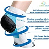 Lumino Cielo Low Cut Graduated Compression Sports Socks (Arch Support For Athletes, Prevents Plantar Fasciitis Heel Spurs, Offers Pain Relief) (L/Xl)