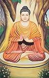 Exotic India Buddha, the Ninth Avatar of Lord Vishnu Water Color Painting