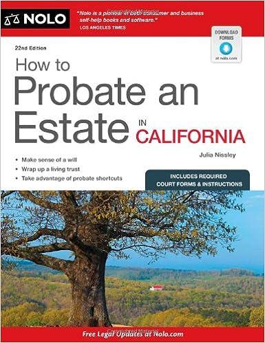 How to probate an estate in california julia nissley 9781413318296 how to probate an estate in california julia nissley 9781413318296 amazon books solutioingenieria Gallery