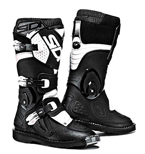 (Sidi Youth Kids Flame MX Boots (32/13.5, Black/White))