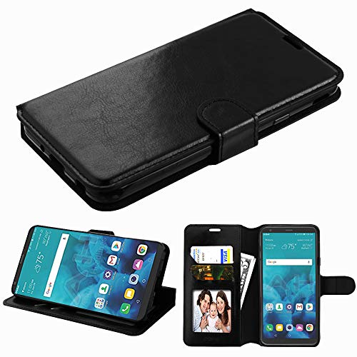Wydan Compatible LG Stylo 4 Phone Case, Stylo 4 Plus Case - Leather Credit Card Wallet Flip Style Kickstand Protective Hybrid Shockproof TPU Phone Cover Magnetic Clasp (Access Leather Case Lg Phone)