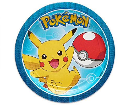 American Greetings Pokémon 8 Count Dessert Round Plate Small