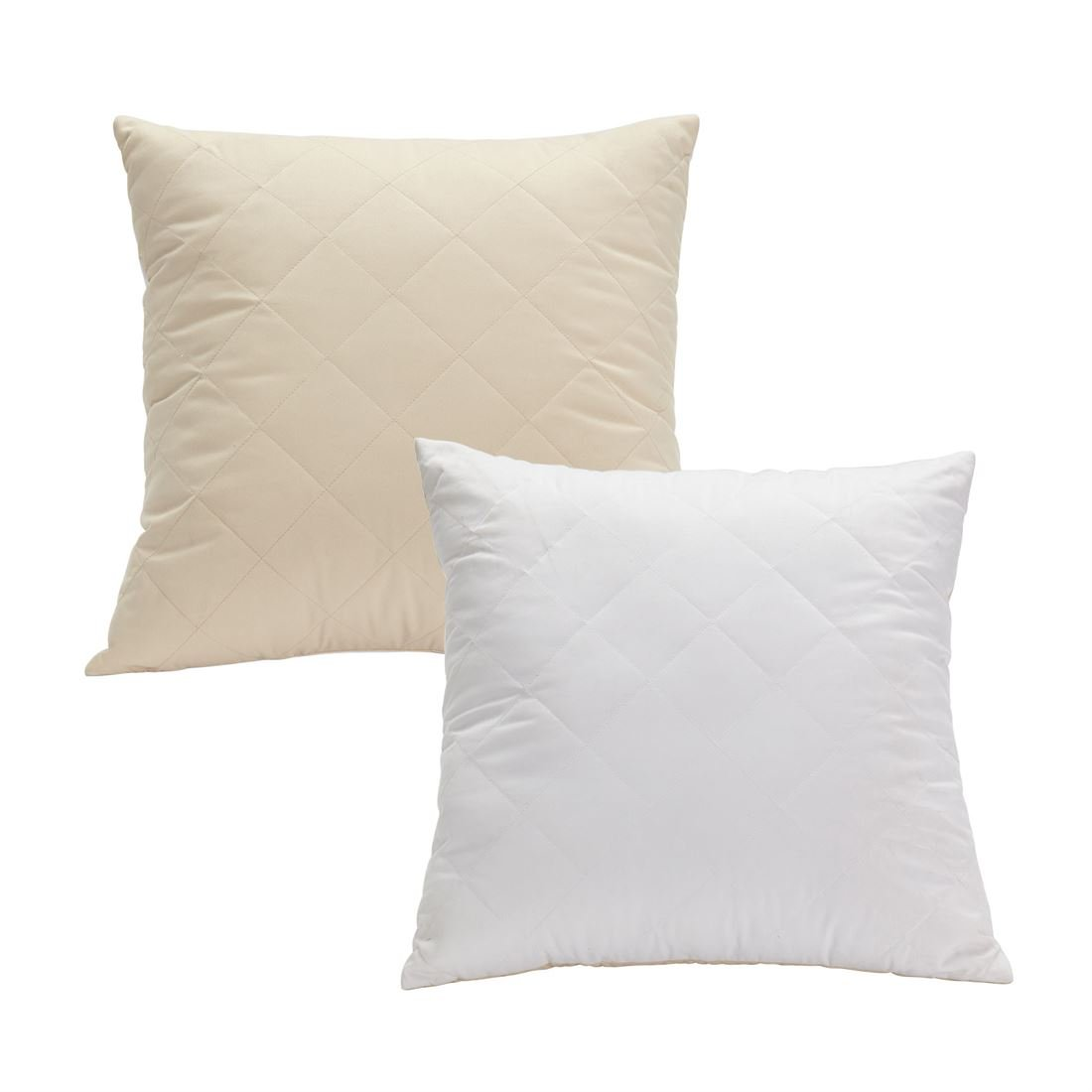 Brylanehome Studioリバーシブルキルト風スクエア枕 17234800121mk0~0 B074GW5DW2Oatmeal White