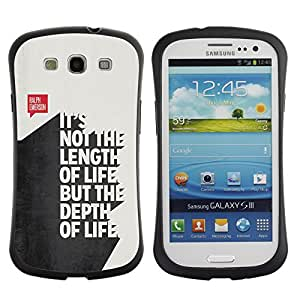 Suave TPU GEL Carcasa Funda Silicona Blando Estuche Caso de protección (para) Samsung Galaxy S3 I9300 / CECELL Phone case / / length funny quote 3d text life inspiring /